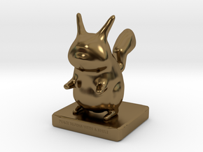 Pika toy in Polished Bronze