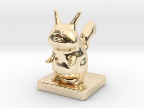 Pika toy in 14k Gold Plated Brass