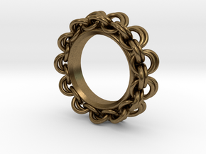 Chainmail Ring Pendant in Natural Bronze