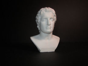 Alexander the Great (356 – 323 BC) in White Processed Versatile Plastic