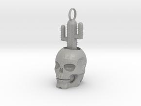 2.5 cm Skull Cactus Pendant in Aluminum