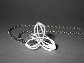 Triquetra Triskele Pendant in White Natural Versatile Plastic