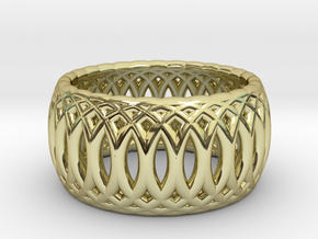 Ring of Rings - 16.1mm Diam in 18k Gold Plated Brass