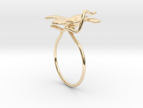 Flower ring - 16mm in 14K Gold