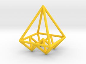 Pyramids Pendant in Yellow Processed Versatile Plastic