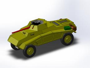Le Panzerspähwagen 4-Rad MG 1/285 6mm in Smooth Fine Detail Plastic