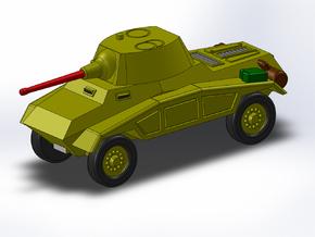 Le Panzerspähwagen 4-Rad Kanone 1/285 6mm in Smooth Fine Detail Plastic