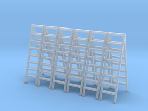 Stepladder 01.  O Scale  (1:43) in Smooth Fine Detail Plastic