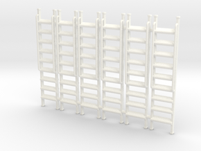 Ladder 01. O Scale (1:43) in White Strong & Flexible Polished