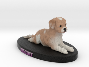 Custom Dog Figurine - Biscuit in Full Color Sandstone