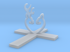 Cross&Deer Small in Smooth Fine Detail Plastic