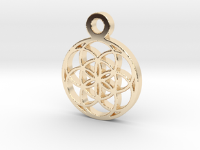 Seed Of Life Pendant in 14k Gold Plated Brass