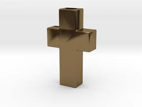 Cross - Cruz  in Polished Bronze