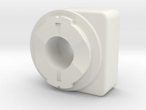 Camera Mount To Garmin Edge Adaptor in White Natural Versatile Plastic