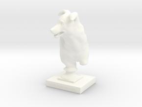 Sculpture in White Processed Versatile Plastic