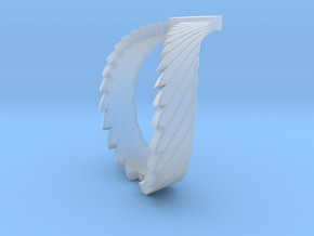 Falcon Wing Ring in Smooth Fine Detail Plastic