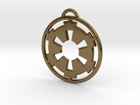 Imperial keychain in Polished Bronze