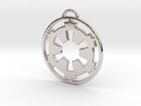 Imperial keychain in Rhodium Plated Brass