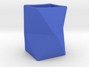 Vase Origami in Blue Processed Versatile Plastic