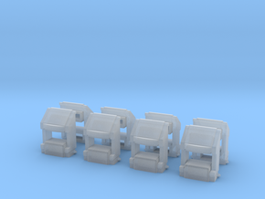 EMD SD70 scale coupler pockets (HO) in Smoothest Fine Detail Plastic