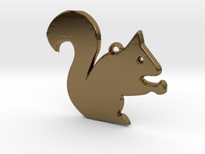Nutty Squirrel™ Charm in Polished Bronze