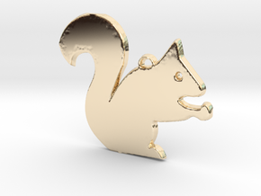 Nutty Squirrel™ Charm in 14K Yellow Gold