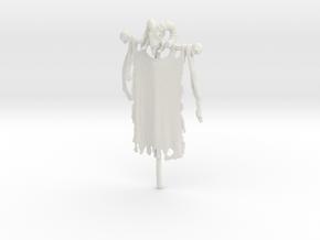 28mm/32mm Custom Flag Banner_C (Barbarian) in White Natural Versatile Plastic
