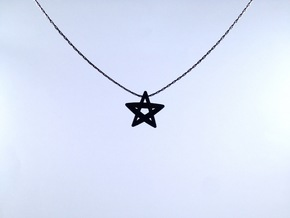 Star Mini in Polished Gold Steel