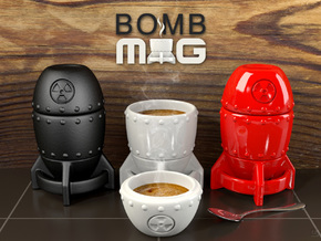 Bomb MUG - Coffee Set in Gloss White Porcelain