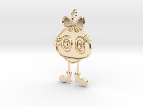Love Me Anyway Pendant in 14k Gold Plated Brass