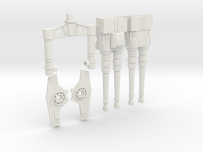 "Deago FALCON - 32"" Hollow Quad Laser Cannons Unit. in White Natural Versatile Plastic"