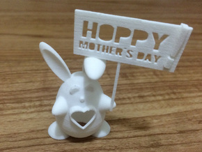 Buntitia -- Hoppy Mothers Day! in White Strong & Flexible