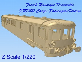 1-220 Remorque XR7800 Decauville  in Smooth Fine Detail Plastic