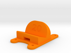 ZMR250 - 20° Action Cam Mount in Orange Strong & Flexible Polished