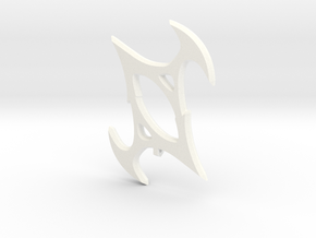 Symbol of Torment in White Processed Versatile Plastic
