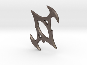 Symbol of Torment in Polished Bronzed Silver Steel