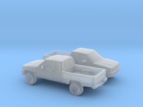 1/148 2X 1988-97 Toyota Hilux in Smooth Fine Detail Plastic