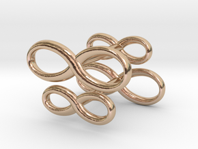 Cufflinks Infinity  Symbol 2x in 14k Rose Gold