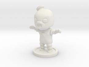 Marshmallow Man in White Natural Versatile Plastic