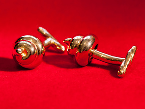 Lucky Golden Poo Cufflinks in 18k Gold