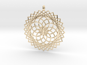 Flower of Life - Pendant 1 in 14k Gold Plated Brass