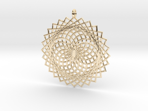 Flower of Life - Pendant 2 in 14k Gold Plated Brass