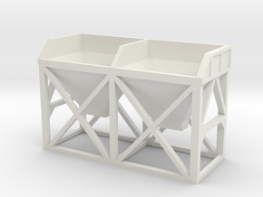 N Scale Concrete Plant Hopper 22mm in White Natural Versatile Plastic