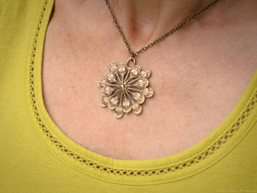Sun Petals Pendant in Stainless Steel