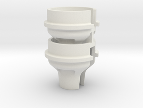 0041 - TLR22-4 High-Offset Spring Cup Set in White Natural Versatile Plastic