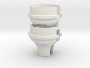 0041 - TLR22-4 High-Offset Spring Cup Set in White Natural Versatile Plastic