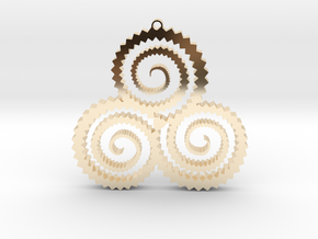 TriSwirl Pendant in 14k Gold Plated