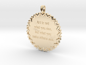 Art is not what you see | Jewelry Quote Necklace in 14K Yellow Gold