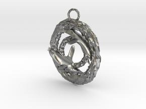 Penguin pendant in Natural Silver