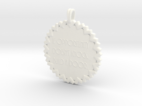 If Opportunity Doesn't Knock | Jewelry Quote in White Processed Versatile Plastic